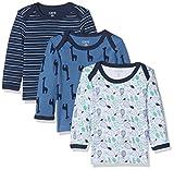 Care 550141 Langarmshirt, (Dunkel Blau 772), 3 Monate/62 cm, 3er-Pack