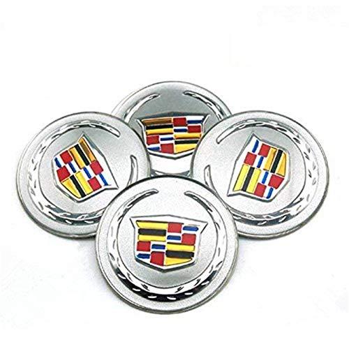 JXHDKJ 4C08365mm Car-Styling-Zubehör Emblem Badge Aufkleber Rad Radkappen Mitte Schutzhülle für Cadillac ATS Cts EXT SRX XTS XLR (Cadillac Cts-zubehör)
