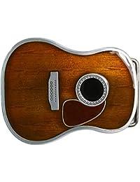 Landisun faite main pour guitare avec boucle de ceinture et terreux Jaune