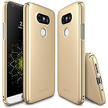 Funda LG G5, Ringke [SLIM] Cubierta ultrafina [cómodo ajuste] Lado esencial al lado del borde de la cobertura de recubrimiento superior, dura de la PC de la piel para LG G5 2016 - Royal Gold