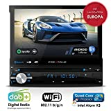 Autoradio Android AMG-1201 | 1DIN | GPS Navigation (Europa-Karten) | DAB+ | DVD-Player | Touchscreen 7 Zoll | Quad-Core CPU | 16GB integr. | WLAN | Bluetooth iOS und Android | MirrorLink | OBD 2 | RDS