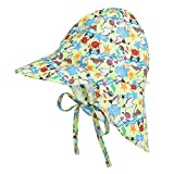Baby Sonnenhut Baumwolle Sommerhut mit Nackenschnur Atmungsaktiver Fischerhut Sonnenschutz Kappe UV Schutz UPF 50+ Kindermütze für 2-5 Jahre
