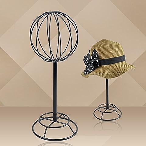 Euro fer Chapeau écran étagère Vêtements Store écran femelle Exhibition étagères 40*15*14cm black