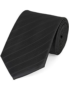 Gestreifte Krawatte Fabio Farini schwarz