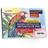 A6 Aquarellpapier 300g | 55 Seiten Weiß | Din A6 Aquarellblock von Tritart