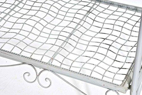 CLP 2er Garten-Bank ANTIKA, Landhaus-Stil, ca. 125 x 50 cm, Metall (Eisen lackiert) Antik Weiß - 7