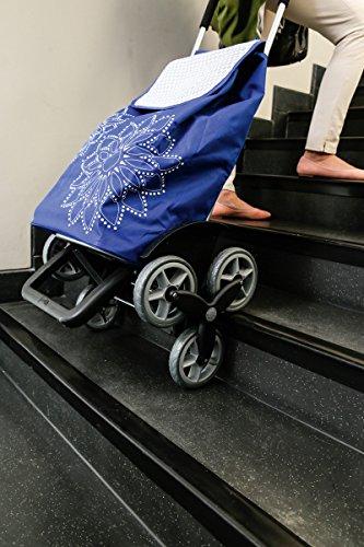 Gimi Einkaufstrolley – Tris Floral Blau Einkaufstrolley - 4