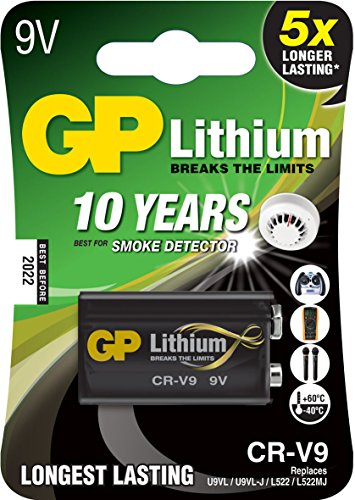 GP Batteries Lithium CR V9 Litio 9V batería no recargable   Pilas (Litio, Petaca, 9 V, 9V, Negro, Ampolla)