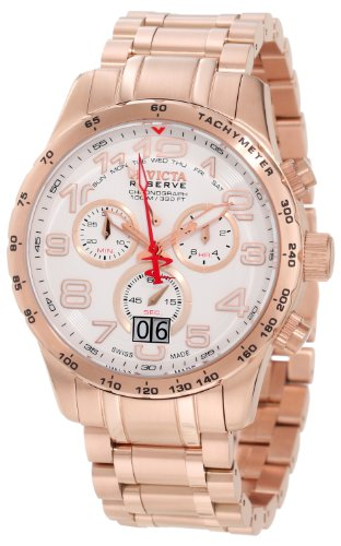 invicta-10743-mens-military-reserve-white-dial-rose-gold-steel-bracelet-chronograph-watch