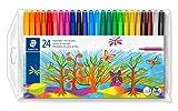 Staedtler Noris Club 325 WP24 Filzstifte, Set mit 24 brillanten Farben, hohe Qualität, CE - kindgerecht DIN EN-71, leicht auswaschbar, Linienbreite ca. 1 mm, rund