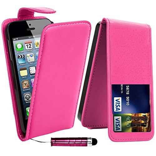 Monde de mobile®–Apple iPhone 6/6G Plus + 14cm–QUALITÉ Premium Étui portefeuille à rabat en cuir PU avec film protecteur d'écran chiffon en microfibre Stylet + Écran LCD, Cuir synthétique, Purpl Pink Top Flip