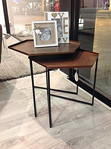Set 2tables Metal Copper and Brass, Selection Cabana