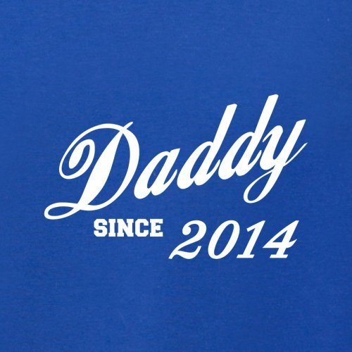 Papa seit 2014 - Herren T-Shirt - 13 Farben Royalblau
