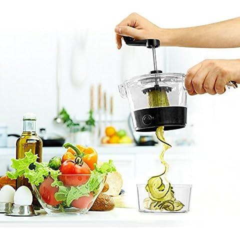 Cortador de verduras. Perfect Twist Kitchen Use. Cortador de vegetales en espiral. El nuevo diseño más compacto y distinto otros Spiralizer, 4 cortes distintos.El mejor cortador en espiral.