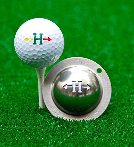 Tin-Cup Unisex Alpha Spieler Tasse H Golfball Markierer, Stahl, Einheitsgröße