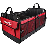 Aomaso Auto Trunk Organizer Nylon Foldable Design For All Vehicles Cars and Home With Triangle Warning