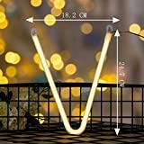 Vimlits DELICORE Neon letter Sign Night Lights LED Alphabet Neon Art Lights Wall Decor Light up words for Wedding Birthday Party Christmas Home Bar Decoration V