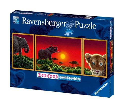 Imagen principal de Ravensburger 19991 - Puzzle panorámico de 1000 piezas: sabana africana