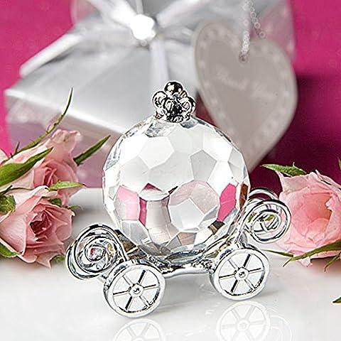 Tutoy Crystal Pumpkin Car Baby Shower Décoration Cadeau De Mariage Avec Boîte
