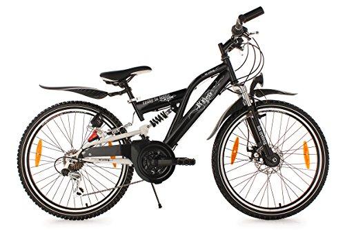 KS Cycling Kinder Fahrrad Kinderfahrrad B-Boy RH 36 cm, Schwarz, 24, 612B