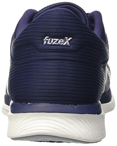 Asics Fuzex Rush, Scarpe da Ginnastica Uomo Blu (Indigo Blue/Silver/White)