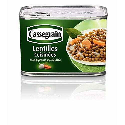 Cassegrain - Lentilles Cuisinées Aux Oignons Et Carottes 460G - Lot De 4 - Livraison Rapide en France - Prix Par Lot