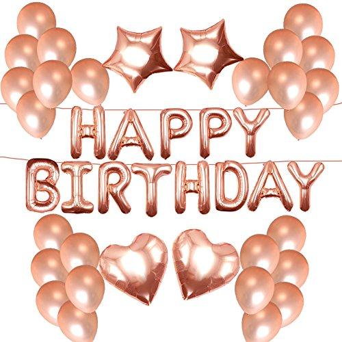 NORTHERN BROTHERS Geburtstag Dekoration - Geburtstagsdeko Happy Birthday Ballon,50 Stück 12
