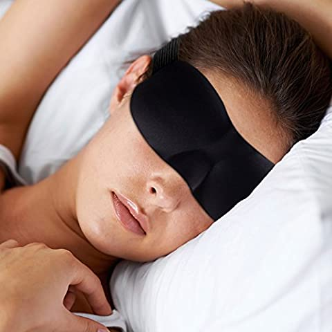 Lightweight & Soft Sleep Mask - Eye Mask with Premium Light Blocking Design – UNISEX for Men and Women – Comes with Earplugs and Travel Pouch – Good for Blackout Sleeping Mediation – Relax More and be More Restful