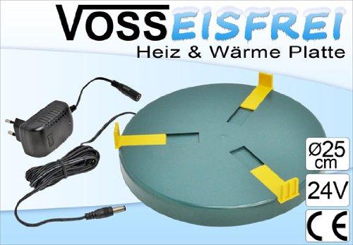 Heizplatte für Tränkenwärmer Tränkenheizung , 25cm, inkl. Netzteil 24V/ 20W