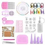 1 Satz DIY Quilling Papier Handwerk Roll Kit Schlitz Werkzeuge Streifen Pinzette für Dekoration und Intelligenz der Kinder