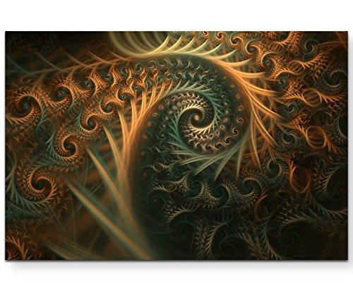 Abstraktes Bild – Spiralen in Herbstfarben