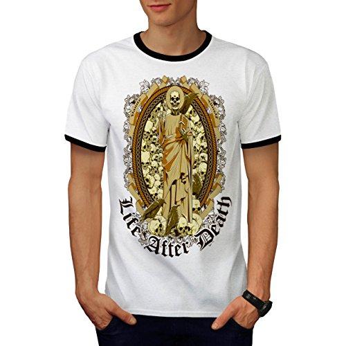 Metall-eitelkeit-bank (Leben Nach Tod Schädel Eitelkeit Schädel Herren S Ringer T-shirt | Wellcoda)