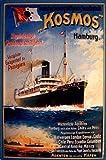 Dampfschiff Kosmos Hamburg Blechschild Schild Blech Metall Metal Tin Sign 20 x 30 cm