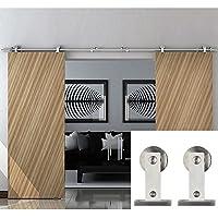 hahaemall esterni legno doppio in acciaio inox porta scorrevole Set Hardware utilizzati porta armadio Cabinet 4m/4M