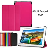 ASUS zenpad 10Z301/Z300Fall CJ Sunshine Tablets. Ultra Slim Stand Cover mit Smart Cover mit Auto Sleep/Wake Für ASUS zenpad 10Z301/Z30025,7cm Rot Rosarot