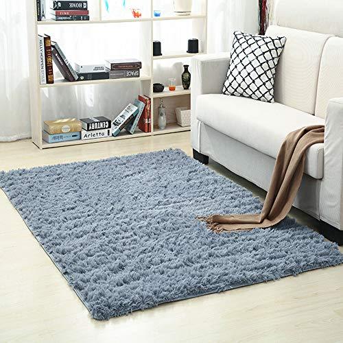 Inmozata - tappeto morbido a pelo lungo, ideale per soggiorno, camera da letto, 80 x 160 cm, colore: grigio, gery, 90 x 160 cm