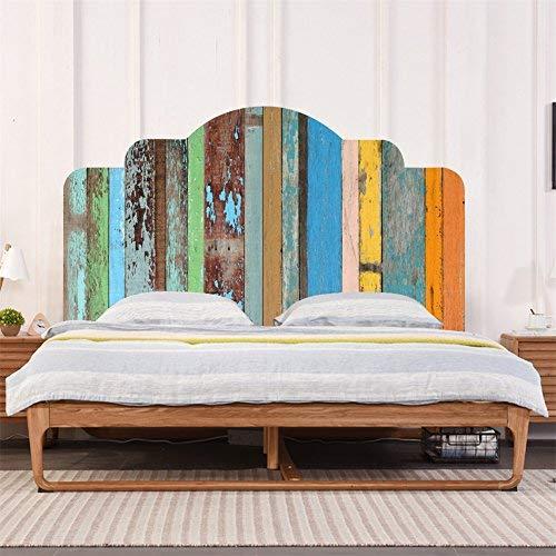 AmazingWall Colorful Holz Kopfteil Aufkleber 3D Home Dekoration Schlafzimmer Kinder Zimmer Kinderzimmer Möbel Decor Art Aufkleber King Size Merhfarbig -