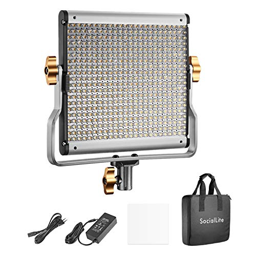 SocialLite Regulable Bi-Color LED Video Luz 480 Leds