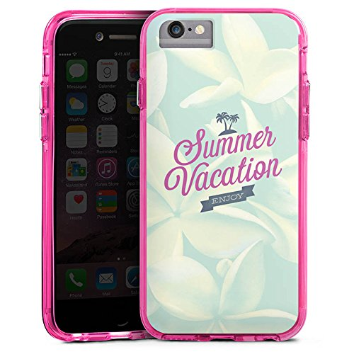 Apple iPhone 8 Bumper Hülle Bumper Case Glitzer Hülle Sommer Summer Urlaub Bumper Case transparent pink