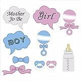 10pcs Photo Booth Requisiten Fotorequisiten & Fotoaccessoires für Baby Geburtstags