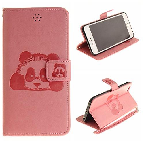Voguecase Pour Apple iPhone 6/6s 4,7 Coque, Étui en cuir synthétique chic avec fonction support pratique pour iPhone 6/6s 4,7 (Panda-Noir)de Gratuit stylet l'écran aléatoire universelle Panda-Pink
