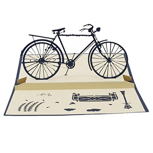 canviuk 3D Pop-Up-Karte Grußkarte Geburtstag Karte Bike Geschenk Radfahrer Creative Grußkarten Papier Craft -