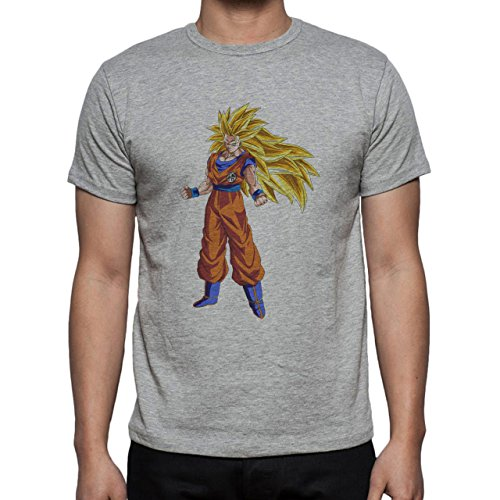 Dragon Ball Super Goku SSJ3 Standing Herren T-Shirt Grau