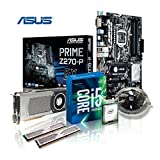 Memory PC Aufrüst-Kit Intel Core i5-7500 7. Generation (Quadcore) Kabylake 4x 3.4 GHz, 16 GB DDR4 2133Mhz, ASUS PRIME Z270-P, 6144MB Nvidia Geforce GTX 1060, USB 3.0, SATA3, 7.1 Sound, M.2 Sockel, GigabitLan, HDMI, MultimediaKIT, Kaby Lake, komplett fertig montiert und getestet
