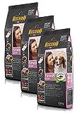 Belcando Hunde Trockenfutter - Adult Finest Croc mit Ente 3X 1kg - Getreidefrei Hundefutter für Junge Hunde - leichtverdaulich und Premiumqualität