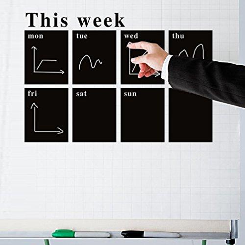 Preisvergleich Produktbild LA VIE DIY Entfernbar Langlebig Wandaufkleber Selbstklebende Tafelfolie Kreidetafel für Schlafzimmer Wohnzimmer Badezimmer Mädchen Jungen Baby Kinderzimmer Büro Schule 78x53 CM