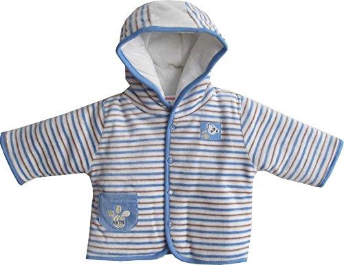 Schnizler Unisex Baby Jacke Kapuzenjacke Nicki Playtime, warm wattiert, Gr. 68, Blau (original 900)