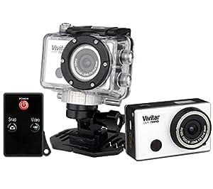 VIVITAR DVR 794 HD - blanc - Caméra sport + Carte microSDHC 32 Go High Speed Class 10 + mini lecteur USB 2.0