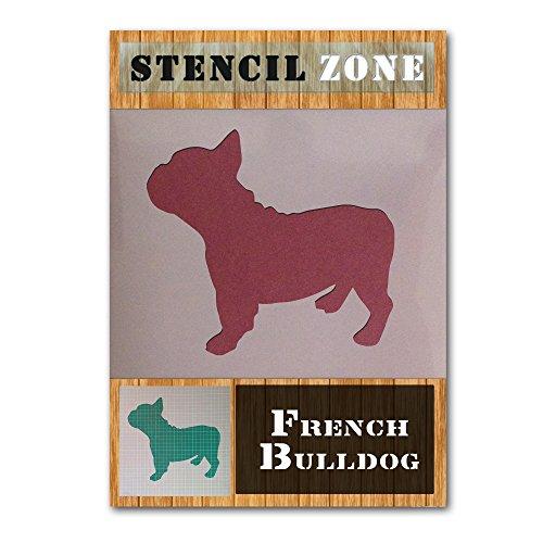 Französisch Bull Dog Mylar Malerei Wand-Kunst-Schablone Hauptdekor DIY Kunst-Handwerk (A6 Größe Stencil - XXSmall) - Französisch-kunst-malerei