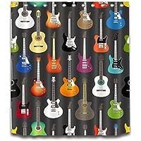 LB Instrumentos Musicales,Guitarra Cortina de Ducha Resistente de Molde de la Tela de Poliester